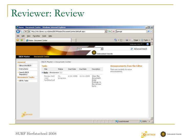 Reviewer: Review