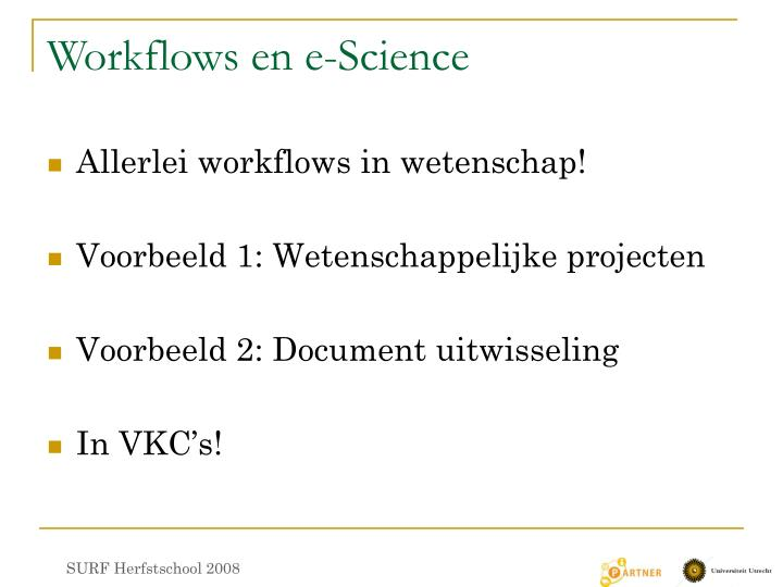 Workflows en e-Science