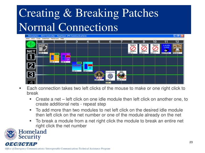 Creating & Breaking Patches Normal Connections