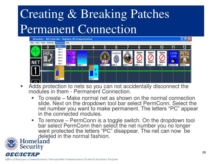 Creating & Breaking Patches Permanent Connection