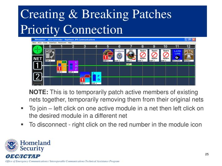 Creating & Breaking Patches Priority Connection