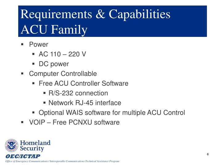 Requirements & Capabilities