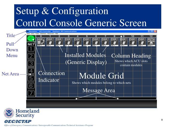 Setup & Configuration