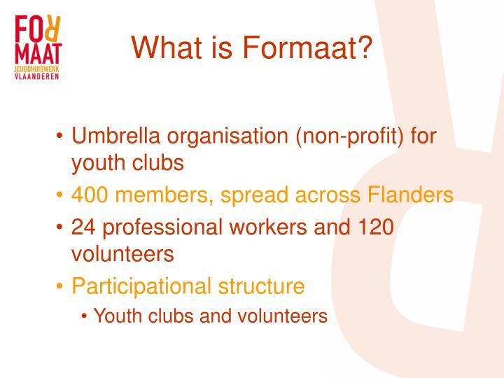 What is formaat