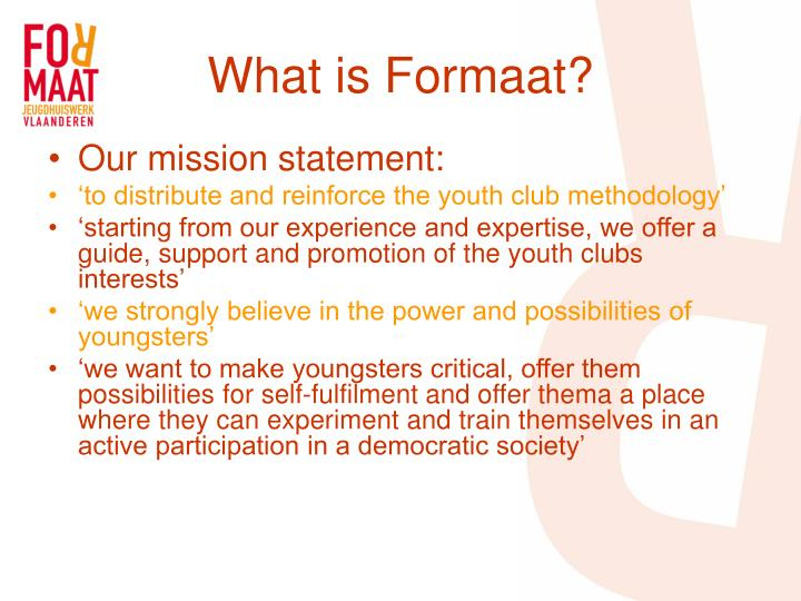What is formaat1