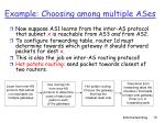 example choosing among multiple ases