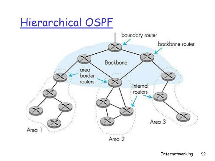 Hierarchical OSPF