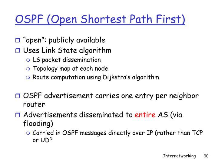 OSPF (Open Shortest Path First)
