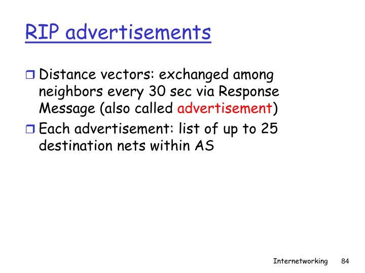 RIP advertisements