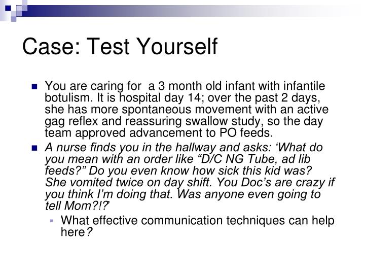Case: Test Yourself