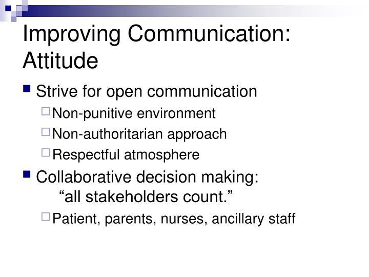 Improving Communication: Attitude