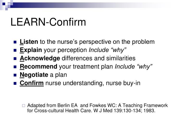 LEARN-Confirm