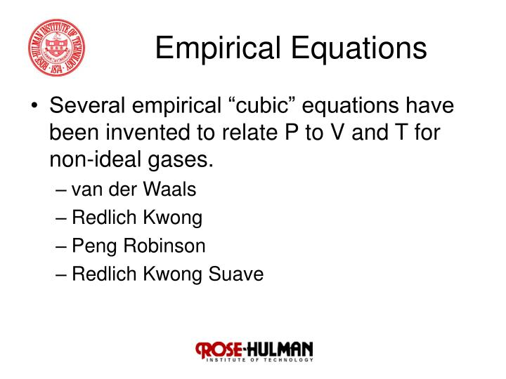 Empirical Equations