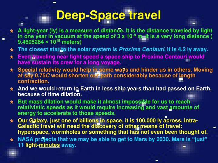 Deep-Space travel