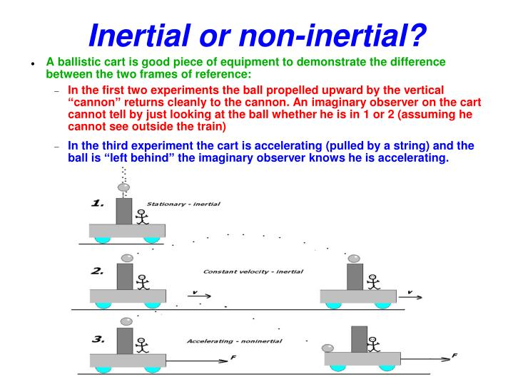Inertial or non-inertial?