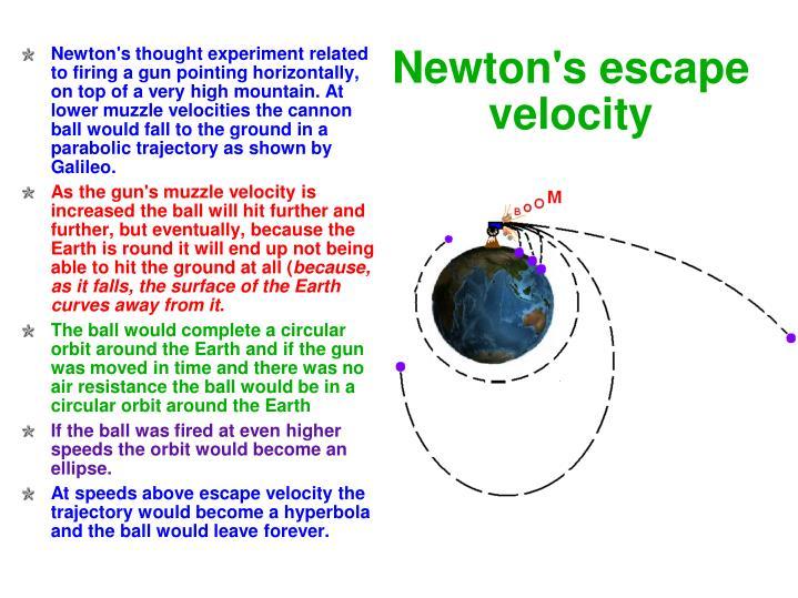 Newton's escape velocity