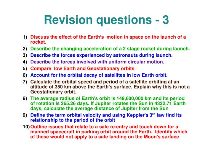 Revision questions - 3