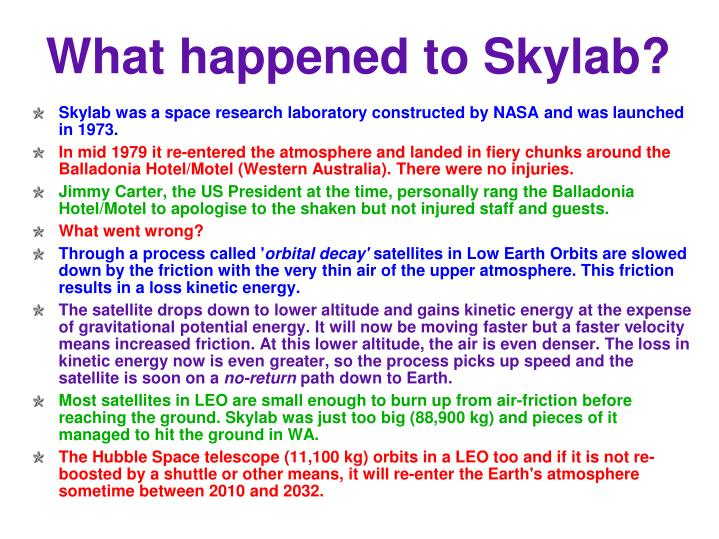 What happened to Skylab?