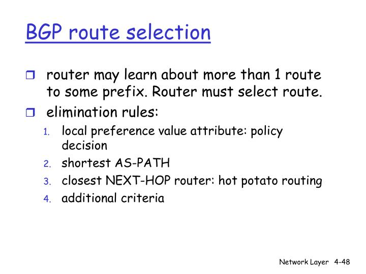 BGP route selection
