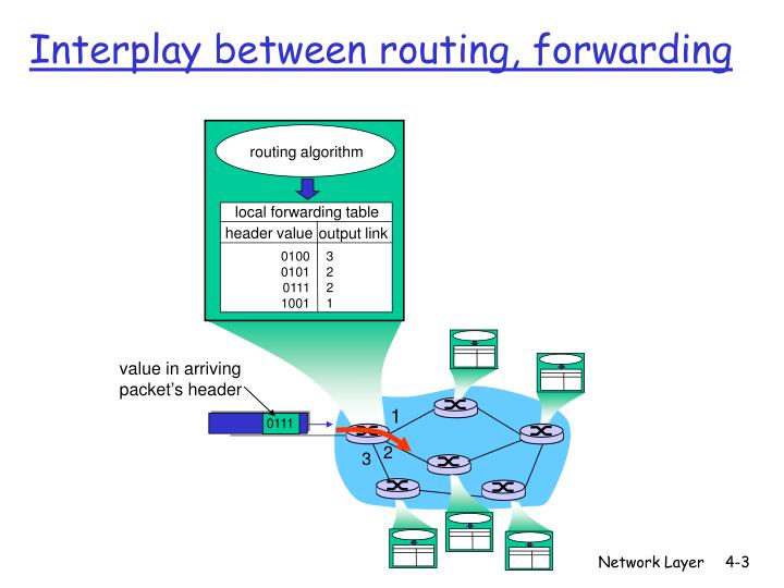 Interplay between routing forwarding