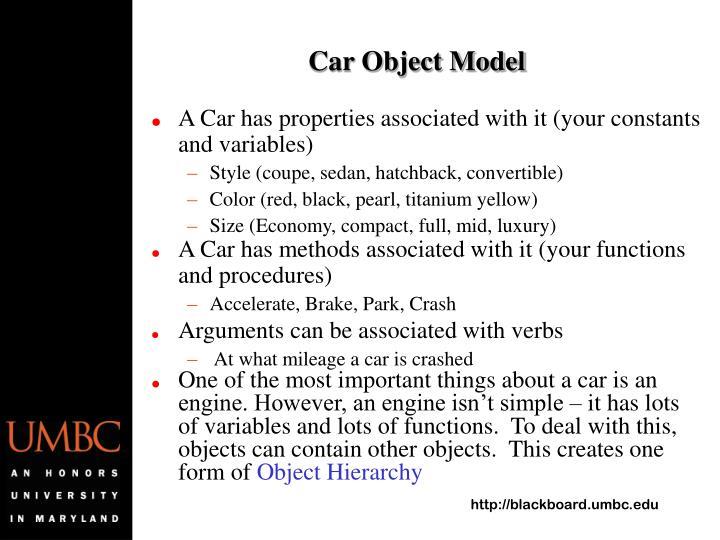 Car Object Model