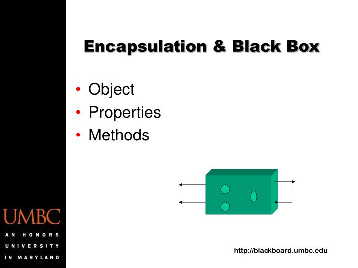 Encapsulation & Black Box