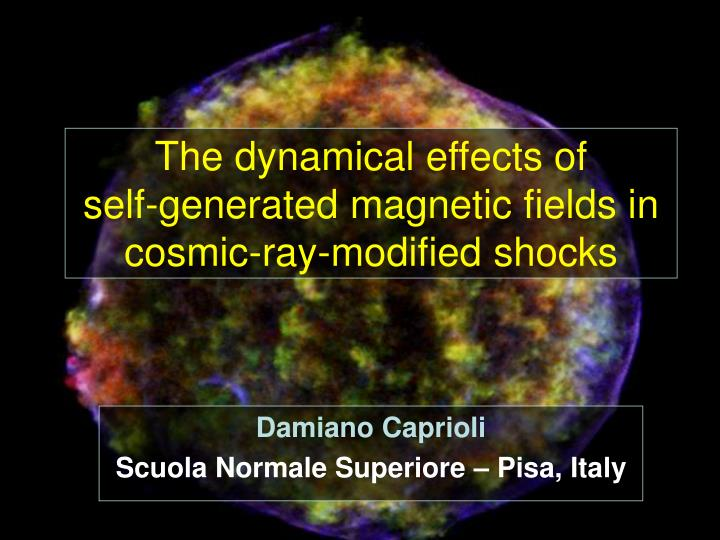 The dynamical effects of self generated magnetic fields in cosmic ray modified shocks