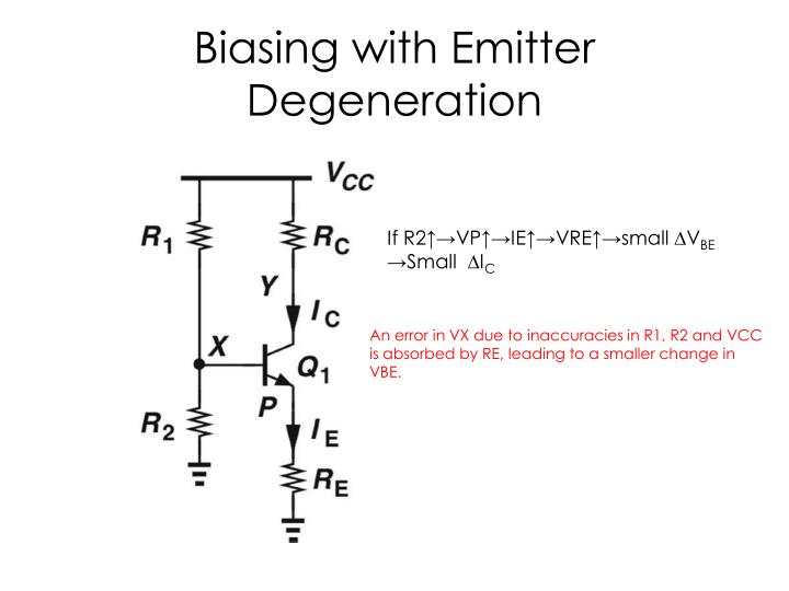 Biasing with Emitter Degeneration