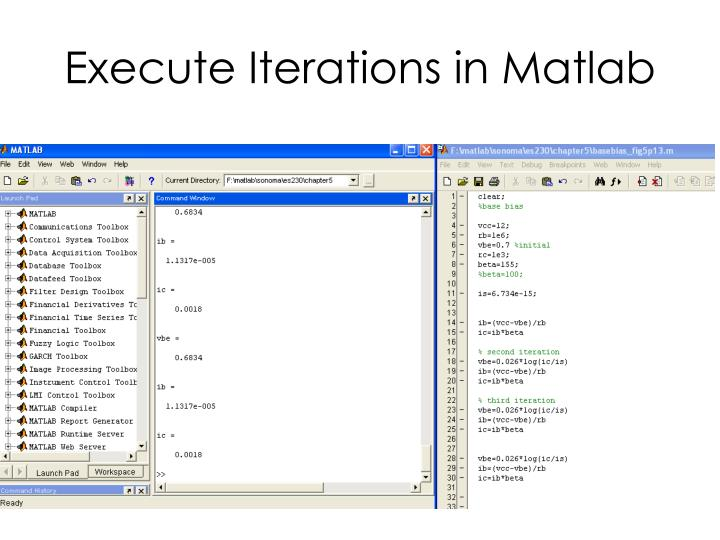 Execute Iterations in Matlab