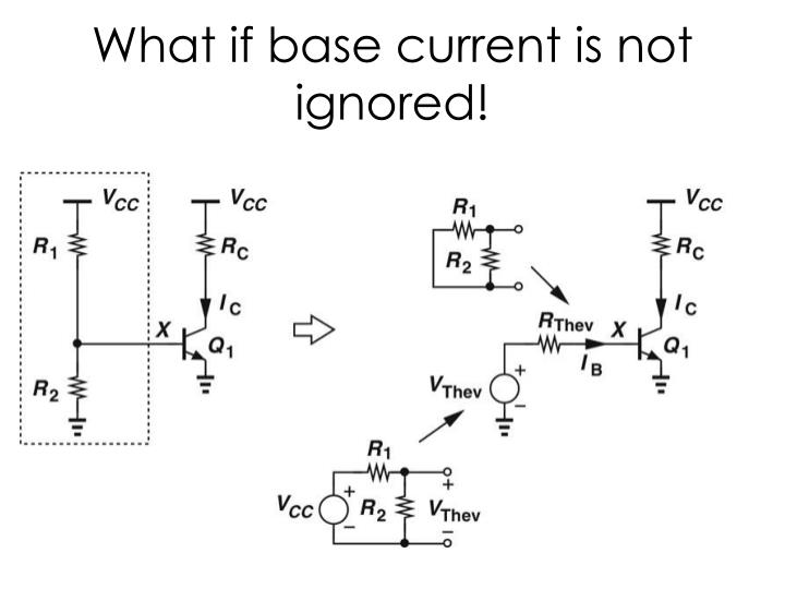 What if base current is not ignored!