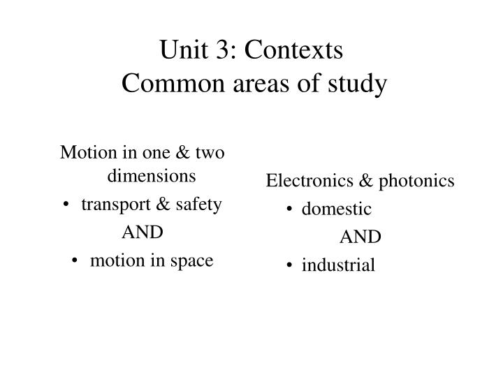Motion in one & two dimensions