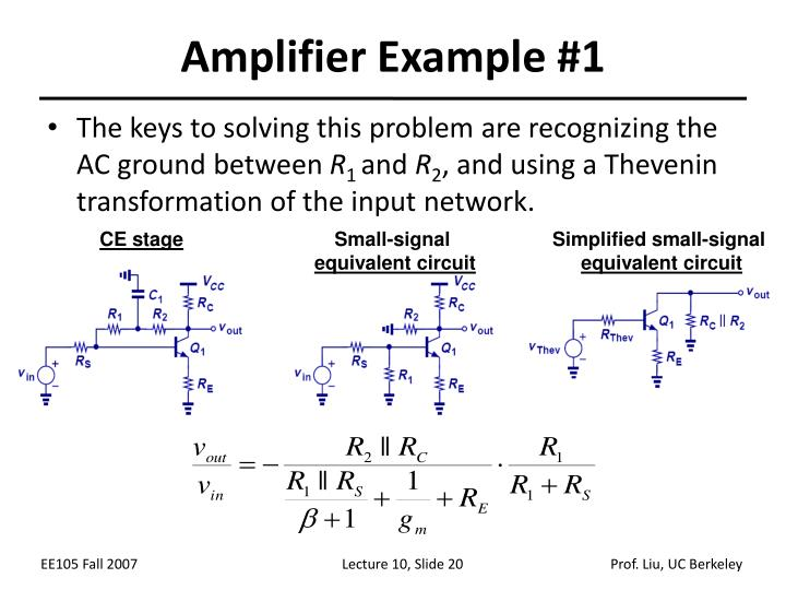 Amplifier Example #1