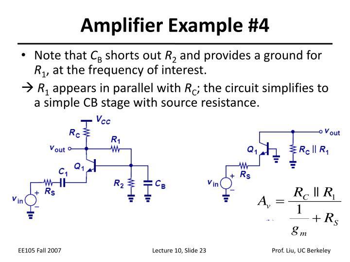 Amplifier Example #4