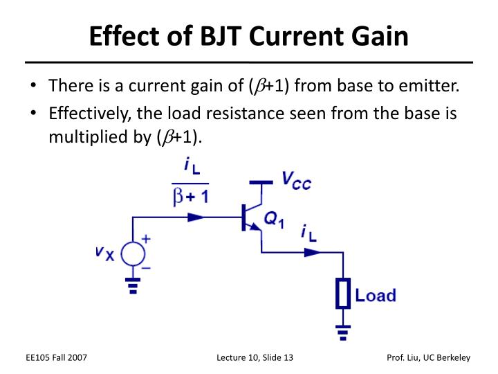 Effect of BJT Current Gain