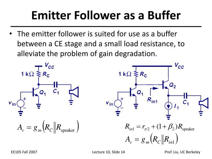 Emitter Follower as a Buffer