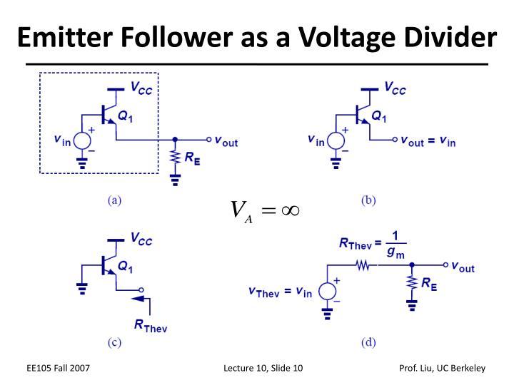 Emitter Follower as a Voltage Divider