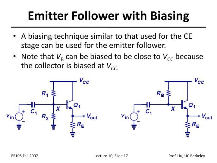 Emitter Follower with Biasing