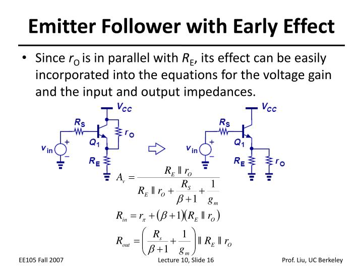 Emitter Follower with Early Effect
