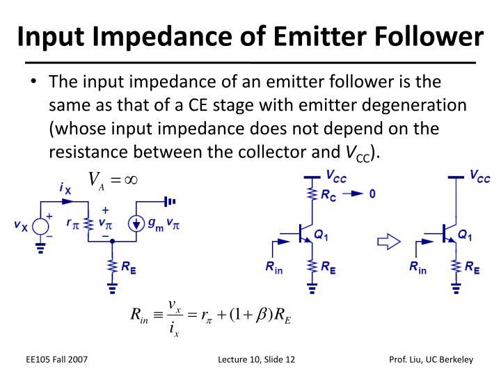Input Impedance of Emitter Follower