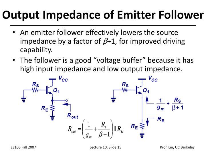 Output Impedance of Emitter Follower