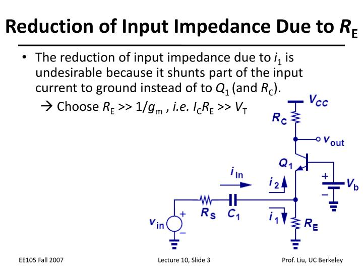 Reduction of Input Impedance Due to