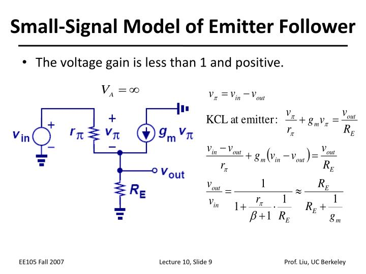 Small-Signal Model of Emitter Follower