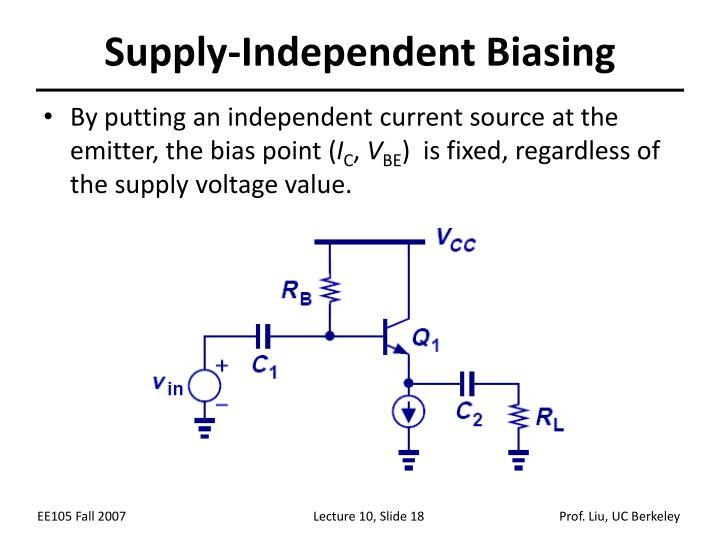 Supply-Independent Biasing