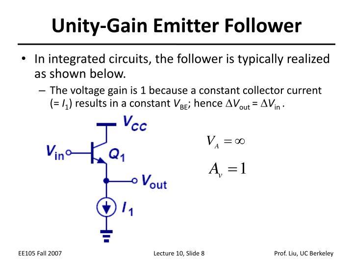 Unity-Gain Emitter Follower