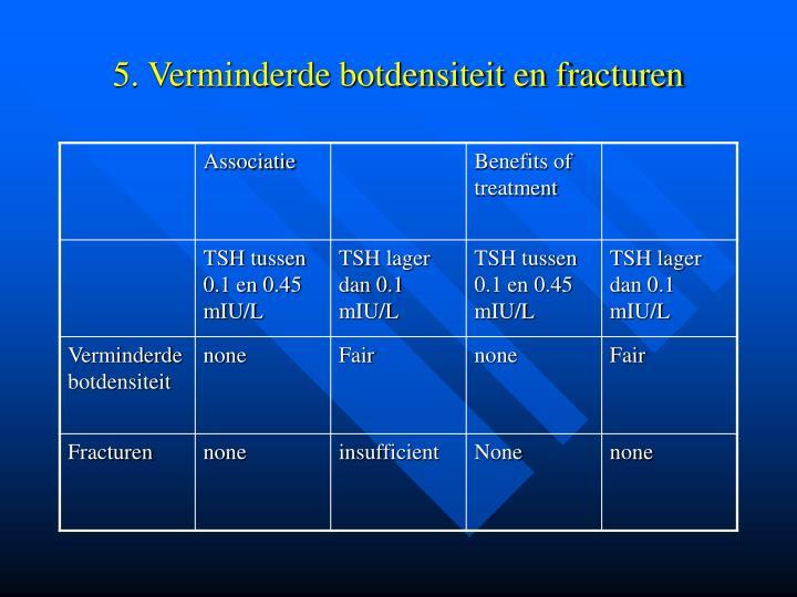 5. Verminderde botdensiteit en fracturen