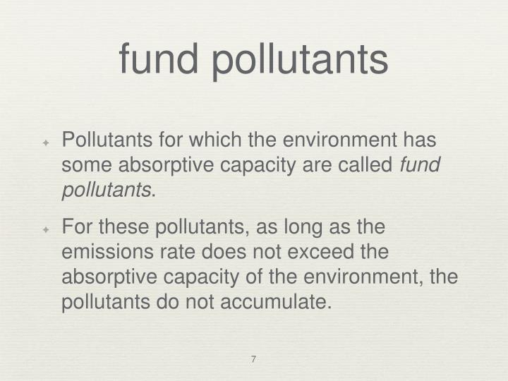 fund pollutants