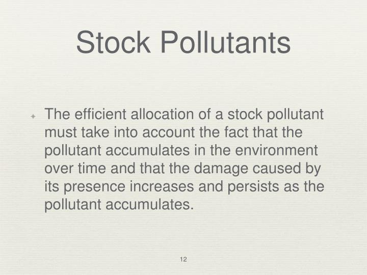 Stock Pollutants