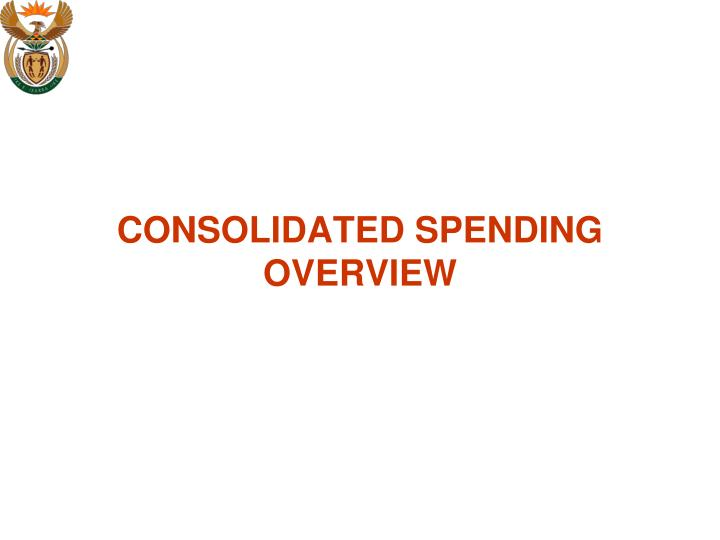 CONSOLIDATED SPENDING OVERVIEW
