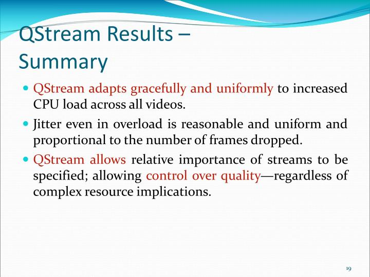 QStream Results –
