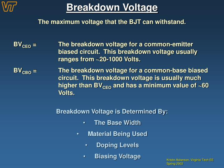 Breakdown Voltage